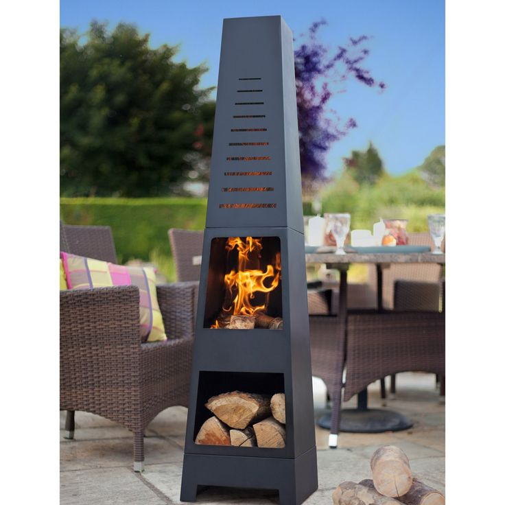 La Hacienda Skyline Chiminea with Log Storage - 56168US