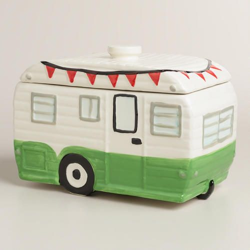 One of my favorite discoveries at WorldMarket.com: Camper Ceramic Cookie Jar- super cute!