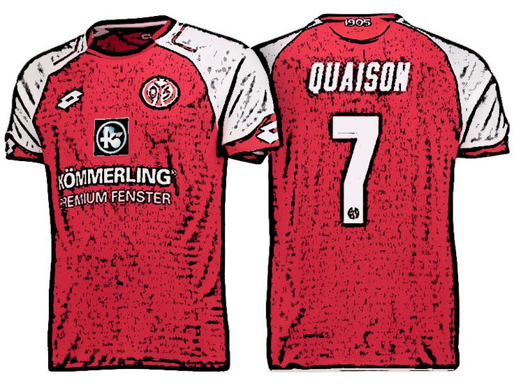 FSV Mainz 05 Kit Jersey For Cheap robin quaison 17-18 Home Shirt
