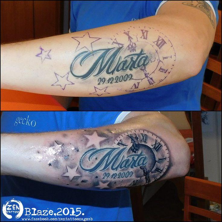 Clock tattoo upgrade by bLazeovsKy on DeviantArt