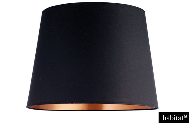 Beautiful black and copper lampshade