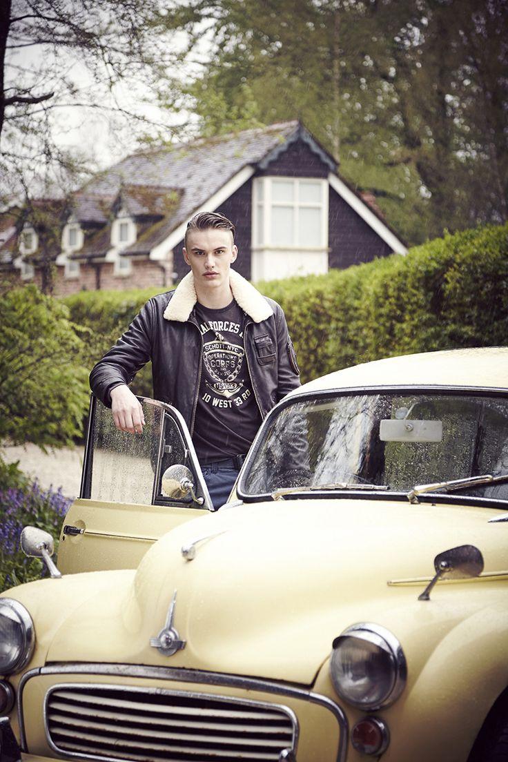 Blouson de la nouvelle collection Schott #mode #look #style #blouson #cuir #schott #menswear #mensfashion #leather #jacket #vintage #yellow #cars