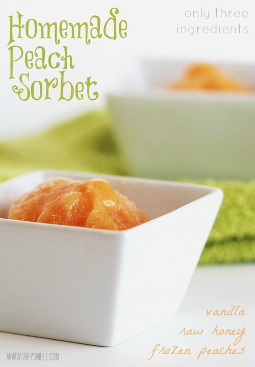 OMG!!!!!!! Use #WLMTFRESH @Summeripe Worldwide, Inc. peaches for this delicious Homemade peach sorbet. Only three ingredients! #eatclean #summeripepeaches