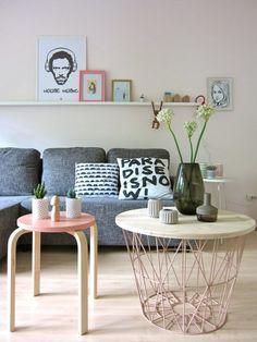 Endlich schöne Beistelltische! | SoLebIch.de #beistelltisch #wohnzimmer #koffetable #livingroom #pastell #interior #interiorideas #einrichtung #einrichtungsideen Foto: Luise