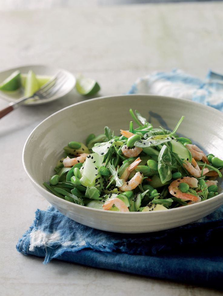 Prawn, avocado and edamame salad recipe from Cut the Carbs! by Tori Haschka | Cooked.com