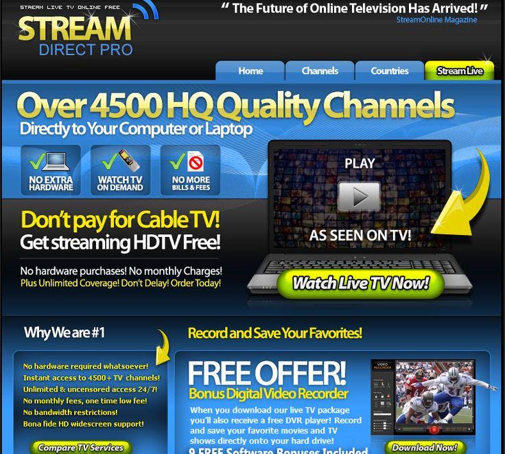 StreamDirect Pro Watch Live Premium TV Channels Online