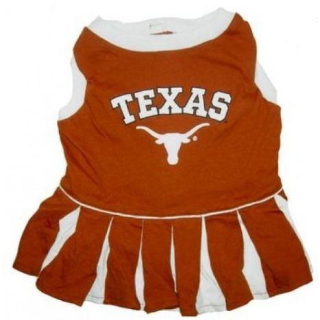 Texas Longhorns Dog Cheerleader Dress