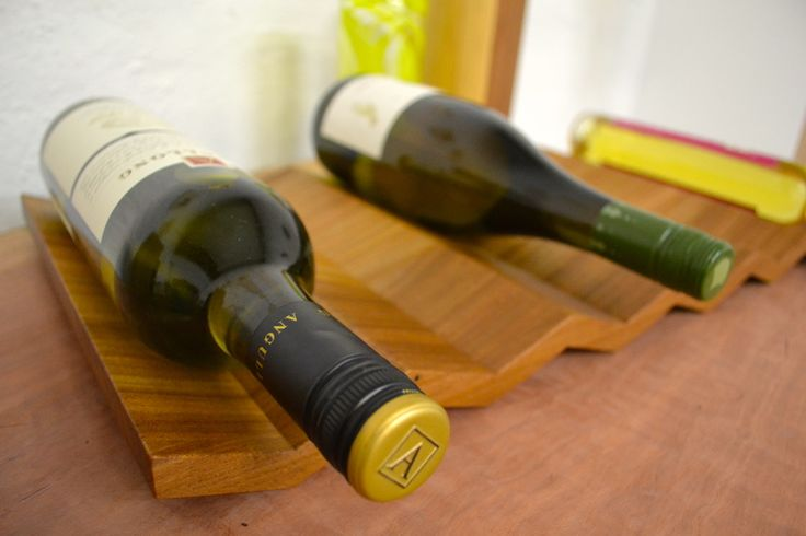 Solid Elm wine rack by eacdesign.