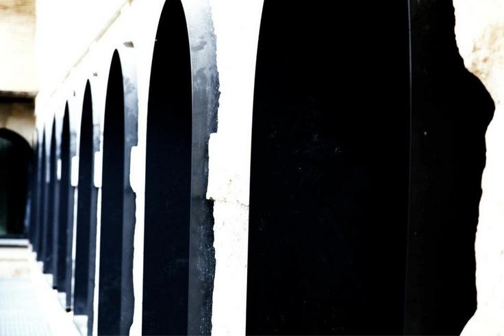 Fenêtres de la future école de musique de Louviers.