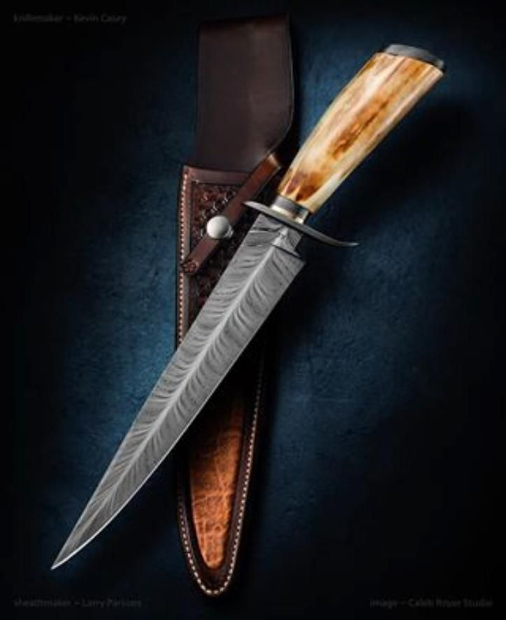 Kevin Casey Feather Damascus