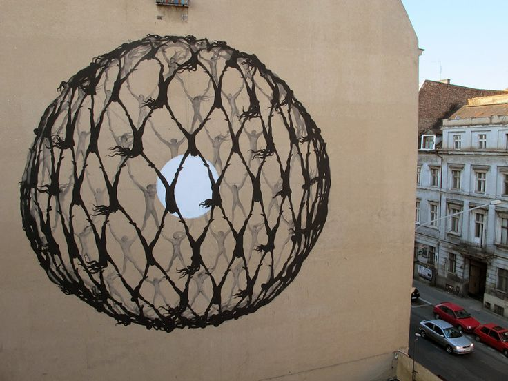 Poznan Poland, ul.Garbary, Festiwal Murali Outer Spaces 2011, made by Sam3