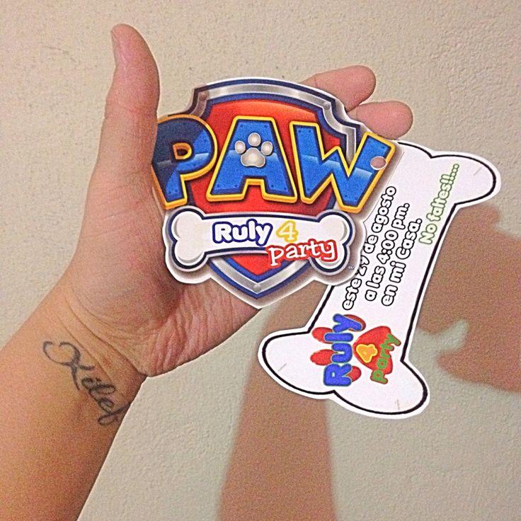 Invitación paw patrol                                                                                                                                                                                 Más