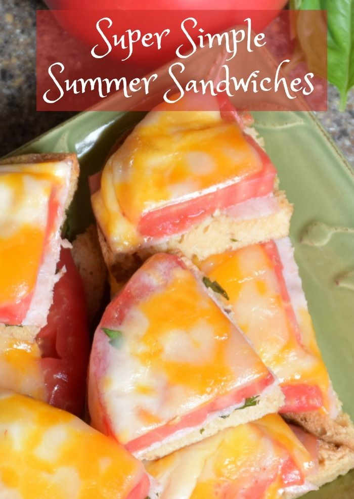 Simple Summer Tomato Sandwiches