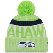 SEATTLE SEAHAWKS NEW ERA 2017 SIDELINE REVERSE TEAM COLD WEATHER SPORT KNIT HAT - NEON GREEN  New Era From: Fanatics.com $29.99