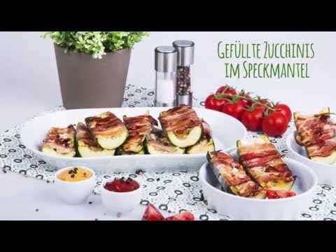 Gefüllte Zucchinis im Speckmantel #stuffed #zucchini #bacon #feta #tasty #foodie #recipe