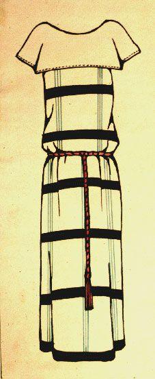 Dress design, 1923-24, Liubov Popova ink on paper
