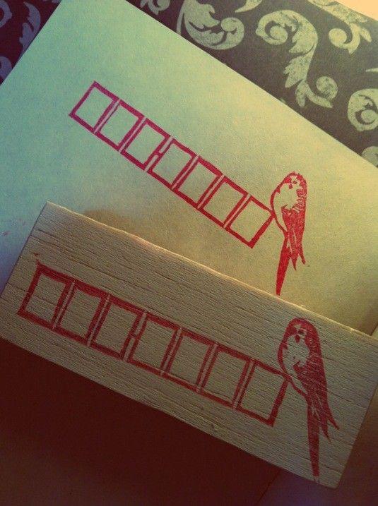 セキセイインコの郵便枠。ちょっとかわいい。サイズ:2×6センチ|ハンドメイド、手作り、手仕事品の通販・販売・購入ならCreema。