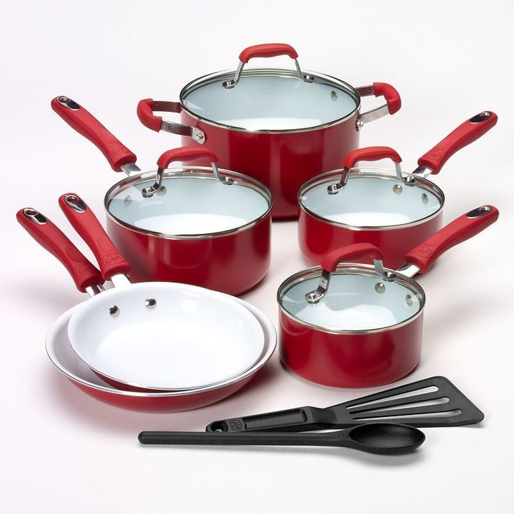 Food Network 10-pc. Nonstick Ceramic Cookware Set