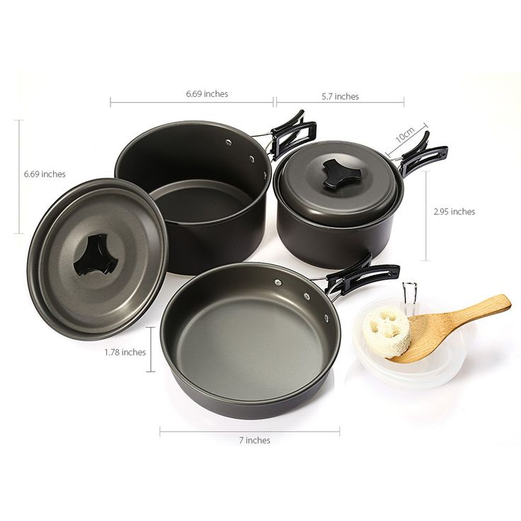 Outdoor Camping Picnic Aluminum Alloy Tableware Cookware Pots Frying Pan Bowl Set For Camping Outdoor Travel High Quality 2016