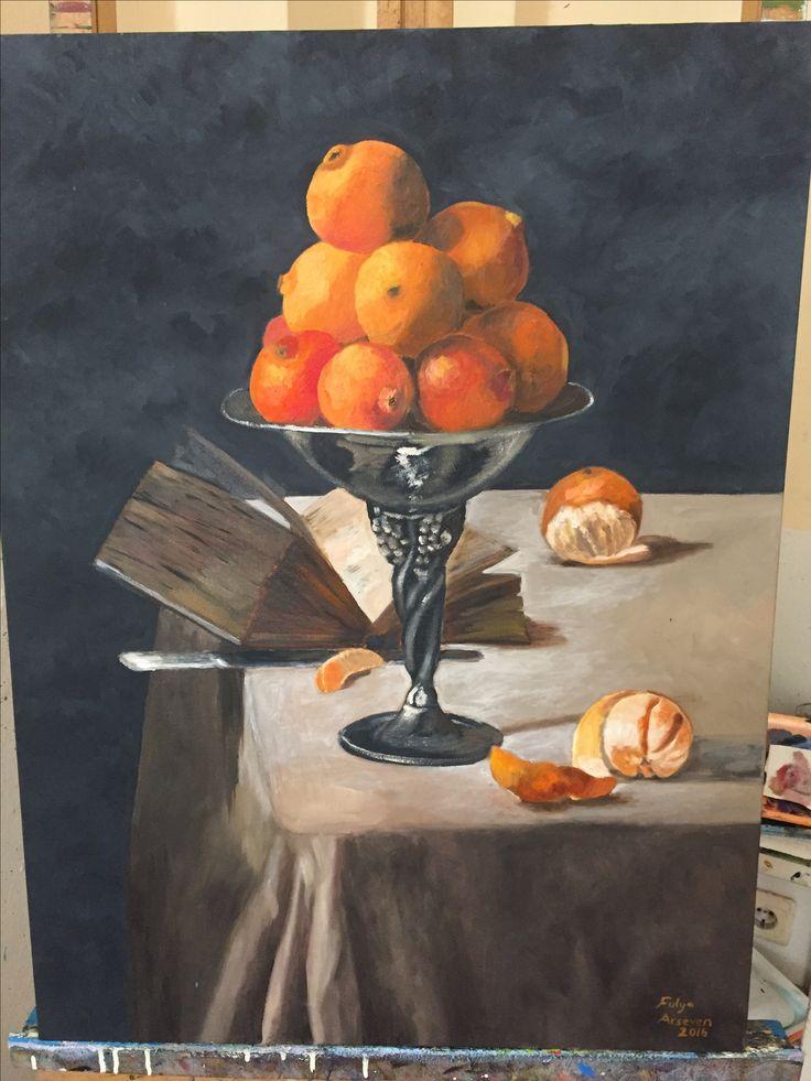 Portakal 60x80 cm yağlıboya tablo