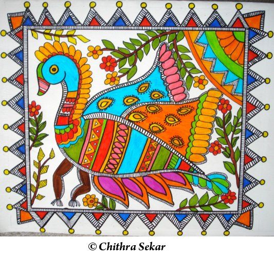 Madhubani and Warli Painting  Madhavi.