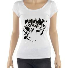 T-shirt hibou tache de peinture, pour femme - taille s à xl