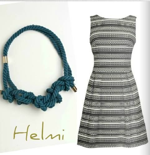 Inspiration.. #mini_dress #handmade_necklace #new_collection #helmi  #shop_online: http://bit.ly/1fXRyLX http://bit.ly/1hjsknV