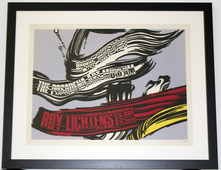 "Roy Lichtenstein ""Brush"" hand-signed litography"