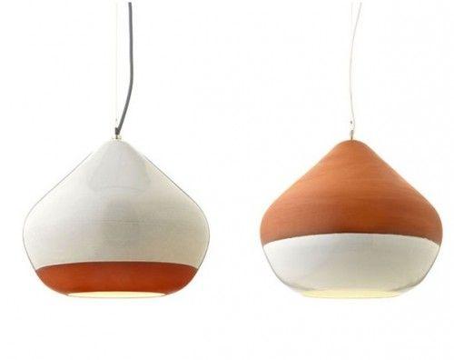 Terracotta Lamps - love the feel