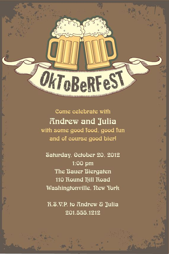 Best Oktoberfest Invitations Images On Pinterest Parties - Birthday invitation in germany