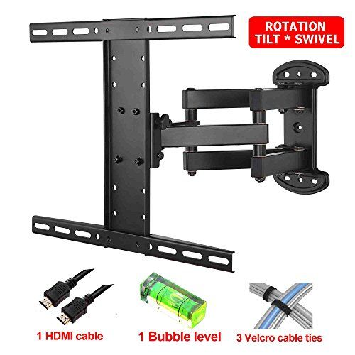 "Mounting Dream MD2381 TV Wall Mount Bracket with Full Motion Articulating Arm (15"" Extension) for 26-55 Inches LED, LCD and Plasma TVs up to VESA 400x400mm and 99 lbs, with Tilt, Swivel, and Rotation Adjustment, Including 6 ft HDMI Cable and Magnetic Bubble Level (For LG, Samsung, Sony, Toshiba, Vizio, Sharp, TCL 26, 28, 32, 40, 42, 47, 48, 49, 50, 51, 55 Inch TV) - http://bestdealsontvs.livejournal.com/7202.html"