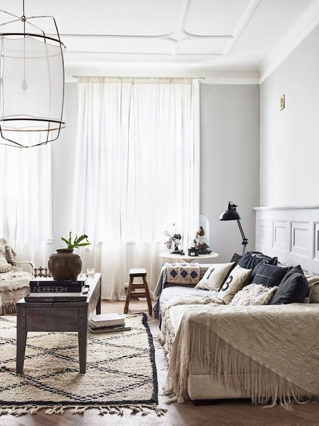 Swedish Apartment with Retro and Boho Chic Influences