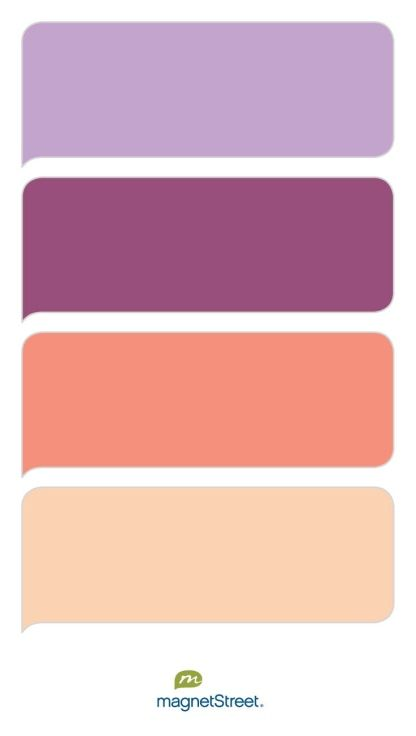 Lilac mulberry coral and peach wedding color palette - Peach color paint palette ...