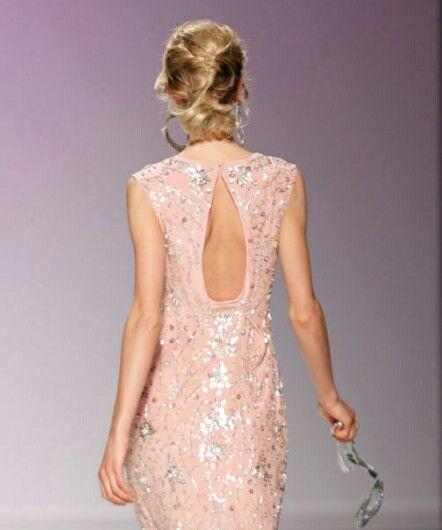 Vestido espalda descubierta colección primavera 2014