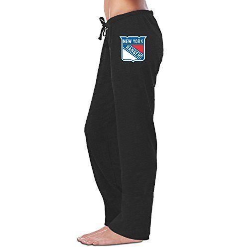QQokgo Womens New York Rangers Hockey Logo Sweatpants * Click image to review more details.