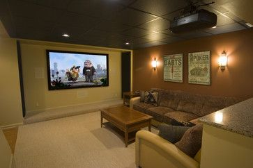 blacked out basement ceilings | Basement Drop Ceiling Design Ideas, Pictures, Remodel, and Decor