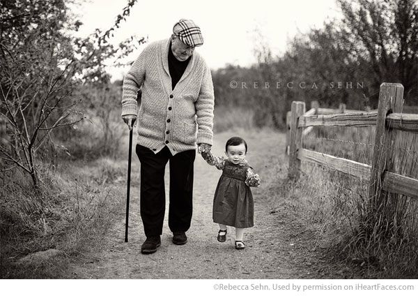 Grandparents Photography Ideas via iHeartFaces.com - Portrait Photography by  Rebecca Sehn