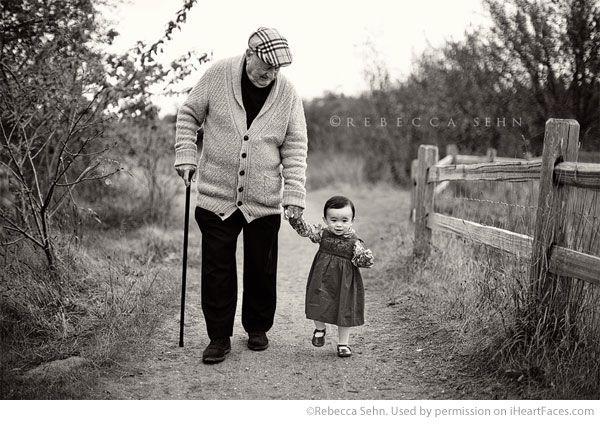 Grandparents Photography Ideas via iHeartFaces.com - Portrait Photography by  Rebecca Sehn