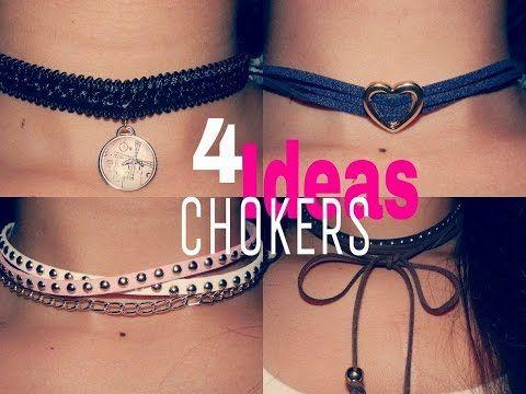 COMO HACER CHOKERS Y 4 IDEAS SUPER FACILES | Barbara Castro♥ - YouTube