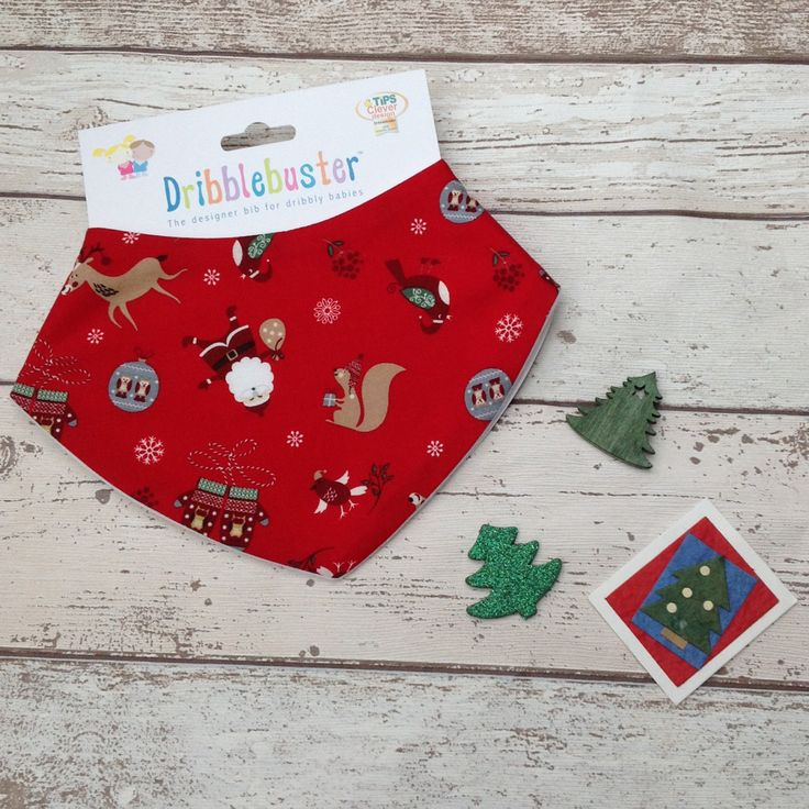 Christmas Gift for Baby in red Dribble bib baby gift scarf style bib catches dribble keeps baby dry free from rash and chafing. by Dribblebuster on Etsy