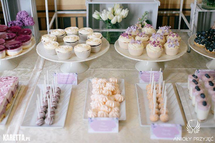 9. Lilac Wedding | Sweet table | Sweetness | Cake-pops | Dessert shooters | Cupcakes | Flowerfetti / Wesele z bzem | Słodki stół | Słodkości | Deserki | Muffiny | Kwiatowe konfetti | Anioły Przyjęć