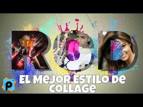 Hacer Collage de fotos dentro de letras PicsArt Tutorial - YouTube