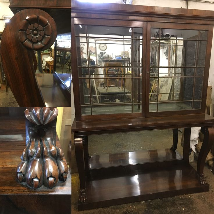 French 19th century rosewood display cabinet