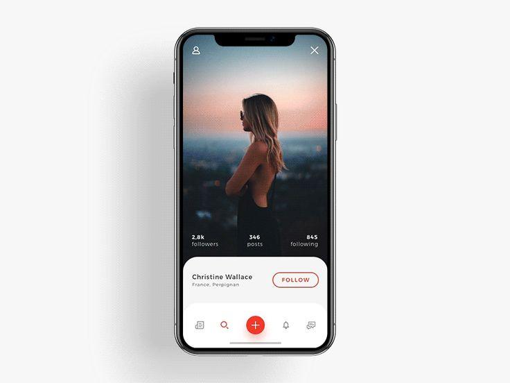 iPhone X Social App by Shakuro 🖖 Team - Dribbble