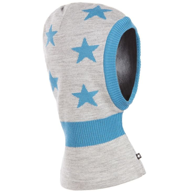 http://www.childrensalon.com/#a_aid=51f456f914eb5 Molo - Boys grey Star Knit Balaclava | Childrensalon
