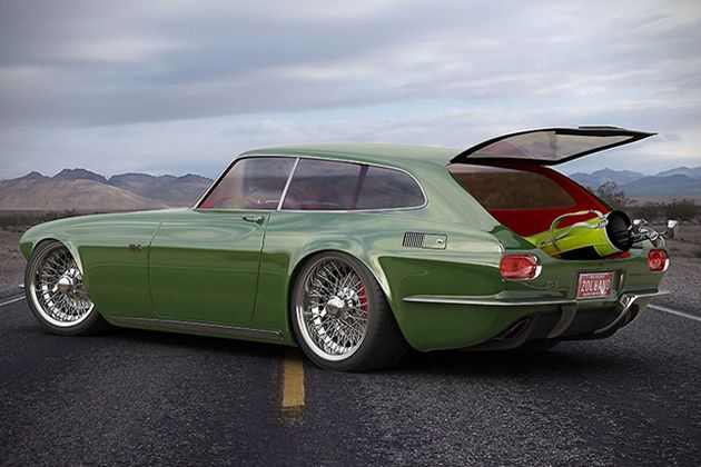 Volvo P1800 ZES Concept 3 -  This is how the P1800 should have been done!  They look like an Aston Martin but about as fast as a Beetle.  Too bad.