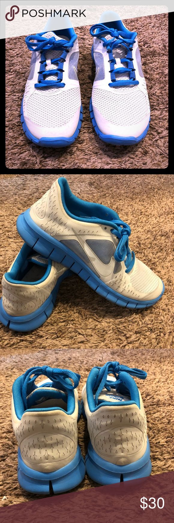 Nike Run 3 Youth Shoes Gray/Blue 7Y Slightly worn Size US 7 Youth. Please note that colors may slightly very due to the settings of your electronic device. Please ask questions before purchasing. Nike Shoes Sneakers