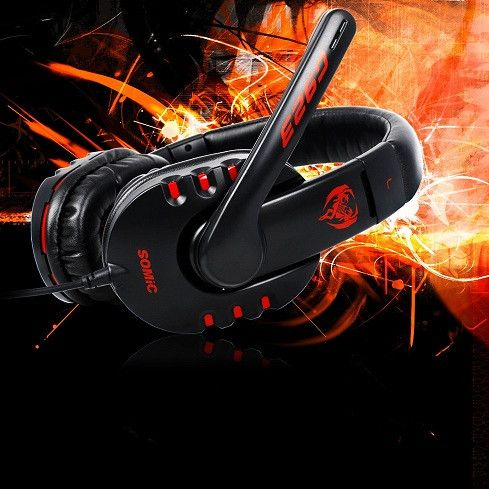 Stereo Surrounded Sound Game Headset Over-Ear Gaming Headphone Headband with Mic Volume Control for Computer