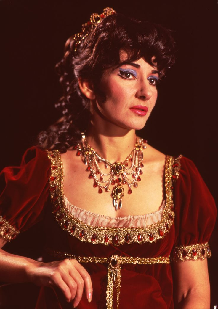 Maria Callas as Floria Tosca in Act II of Puccini's opera Tosca, Royal Opera House, Covent Garden, London, 1964.