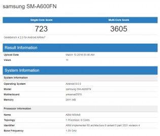 cool Samsung Galaxy A6 et A6 + potentiellement repérés à Geekbench